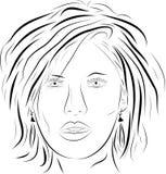 Vector woman face 2 Stock Photo