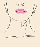 Vector woman face Royalty Free Stock Photography