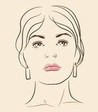 Vector woman face Stock Images