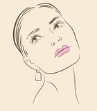 Vector woman face Royalty Free Stock Photos
