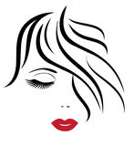 Vector Woman Face Stock Photo