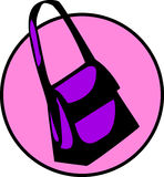 vector woman handbag or girl hand bag Royalty Free Stock Photography