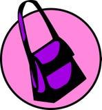 Vector woman handbag or girl hand bag. Vector illustration of a woman handbag or girl hand bag Royalty Free Stock Photography