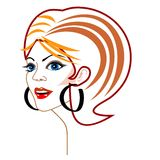 Vector woman's face Stock Photography
