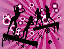 Vector women celebration Stock Photography
