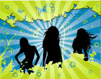 Vector women celebration Stock Images