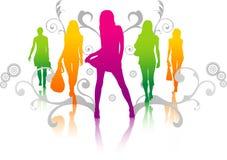 Vector women illustration Royalty Free Stock Photography