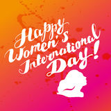 Vector women's day card template. vector illustration