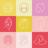 Vector women's logo design elements Royalty Free Stock Image