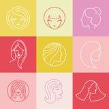 Vector women's logo design elements Royalty Free Stock Image