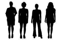 Vector women silhouette. Stock Image