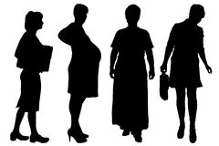 Vector women silhouette. Royalty Free Stock Photography