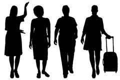 Vector women silhouette. Royalty Free Stock Images