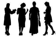 Vector women silhouette. Royalty Free Stock Photos