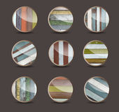 Vector wood background for the app icons Stock Photos