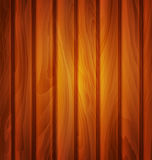 Vector wood background (texture) of brown wooden planks Royalty Free Stock Image
