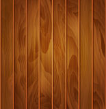 Vector wood background (texture) of brown wooden planks Royalty Free Stock Photo