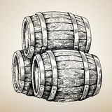 Vector wood barrel Royalty Free Stock Photos