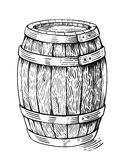 Vector wood barrel vector illustration