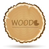 Vector wood cut. Wooden background Stock Photography