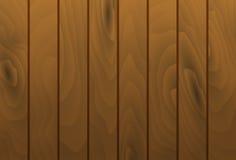 Vector wood grain texture planks. Wooden table surface. Vector wood grain texture vertical planks. Wooden cognac brown table surface Stock Image