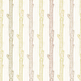 Vector wood logs stripes seamless pattern Stock Photo