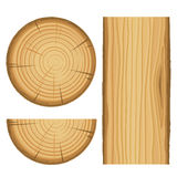 Vector wood material parts. Isolated on white background stock illustration