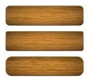 Vector wood planks Stock Photography