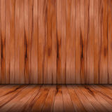 Vector wood room with panel and floor Stock Image