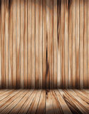 Vector wood room with wooden planks floor vector illustration