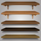 Vector - Wood Shelves, Royalty Free Stock Image