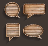 Vector wood sign of speech bubbles Stock Photography