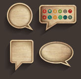 Vector wood sign of speech bubbles Royalty Free Stock Photos