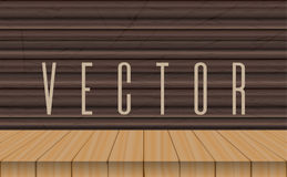 Vector wood table top on ebony background Royalty Free Stock Photo