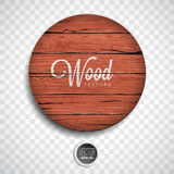 Vector wood texture background design. Natural dark vintage wooden illustration with old style board on transparency background Stock Images