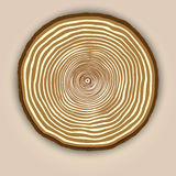 Vector wood texture background with tree rings stock illustration