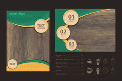 Vector wood texture with business brochure flyer design Royalty Free Stock Images