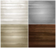 Vector wood textures, natural wooden plank, set of Royalty Free Stock Images