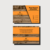 Vector wooden abstract creative business cards eps 10 Royalty Free Stock Photos
