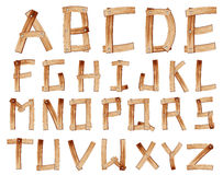 Vector Wooden Alphabet Stock Images
