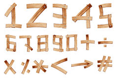 Vector Wooden Alphabet Number Royalty Free Stock Images