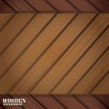 Vector wooden background for design. Royalty Free Stock Images
