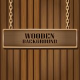 Vector wooden background for design. Stock Photography