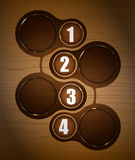 Vector wooden background with four steps Royalty Free Stock Images