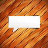 Vector wooden background with speech bubbles paper Stock Image