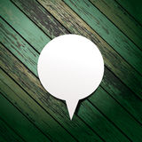 Vector wooden background with speech bubbles paper Stock Photography