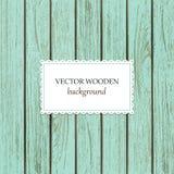 Vector wooden background for mock up design stock illustration