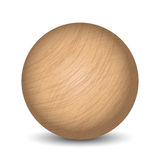 Vector wooden ball Stock Images