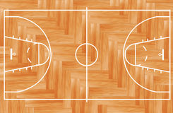 Vector Wooden basketball court Stock Photo