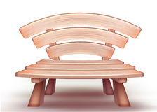 Vector wooden bench Royalty Free Stock Image